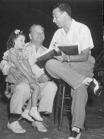 1-Susan on Wallace Beery's lap with her father, S. Sylvan Simon (1943)